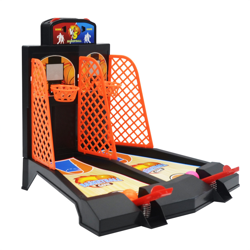 Mini Basketball Table Game  Desktop Arcade Hoops Slap Shot Miniature Game For Ages 3 And Up | Classic Mini Basketball Game 2P