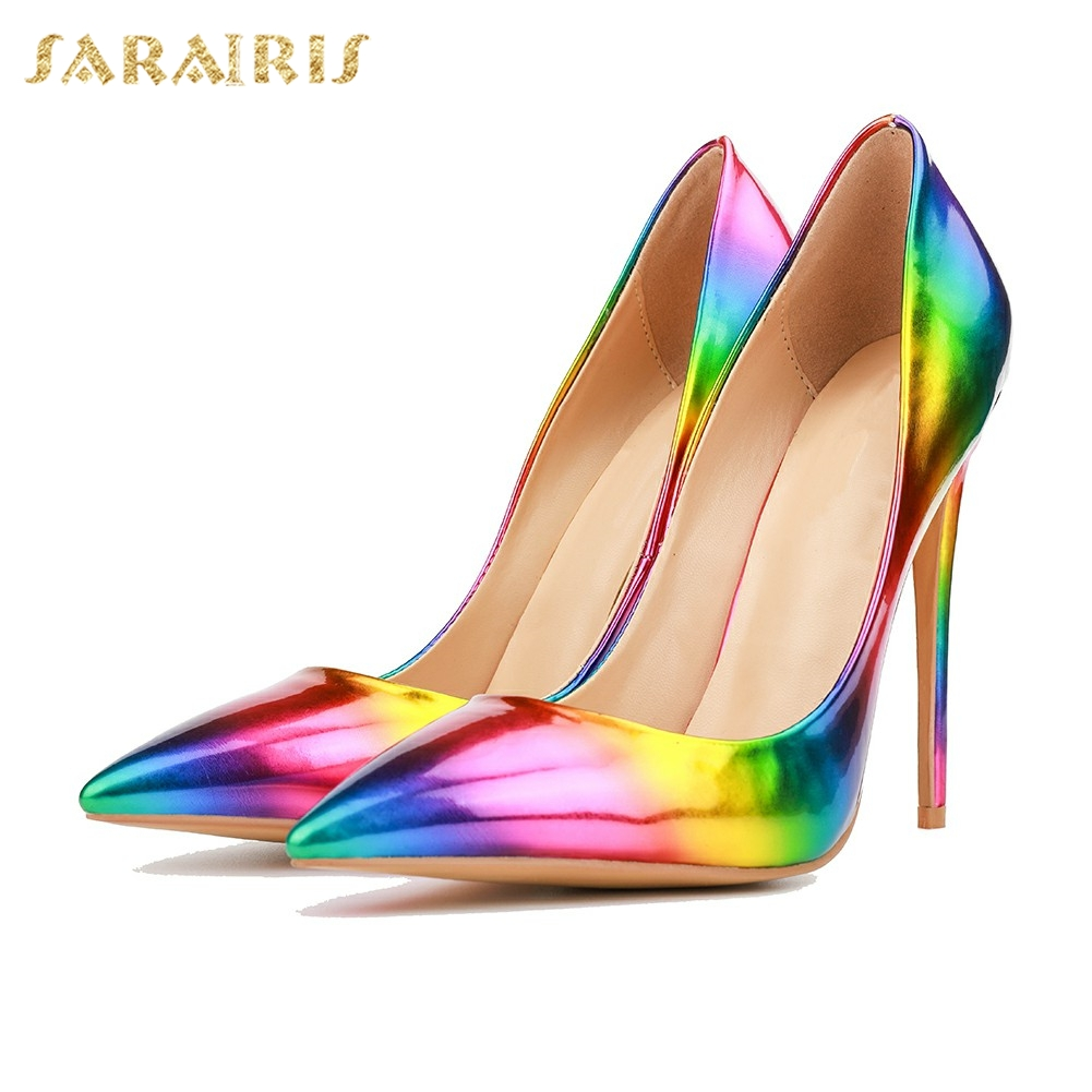 SARAIRIS Brand new Plus Size 32-50 Pointed Toe Hot Sale Woman Pumps Shoes Women Sexy High Heels Slip On Party Wedding PumpsSARAIRIS Brand new Plus Size 32-50 Pointed Toe Hot Sale Woman Pumps Shoes Women Sexy High Heels Slip On Party Wedding Pumps