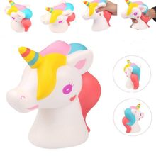 Unicorn Animal Squishy Slow Rising Antistress Scented Stretch Squeeze Toy Kid Squishies Decompression Novelty Toy Big Horse Head(China)