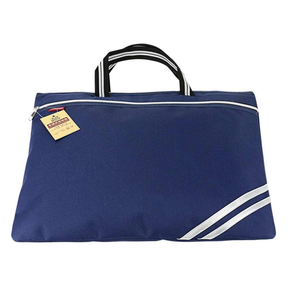 ドキュメントバッグオックスフォード布ブリーフケースビジネスバッグ男性女性ポータブルジッパー Pu レザーファイルバッグダブルデッキデータパッケージ TIANSE