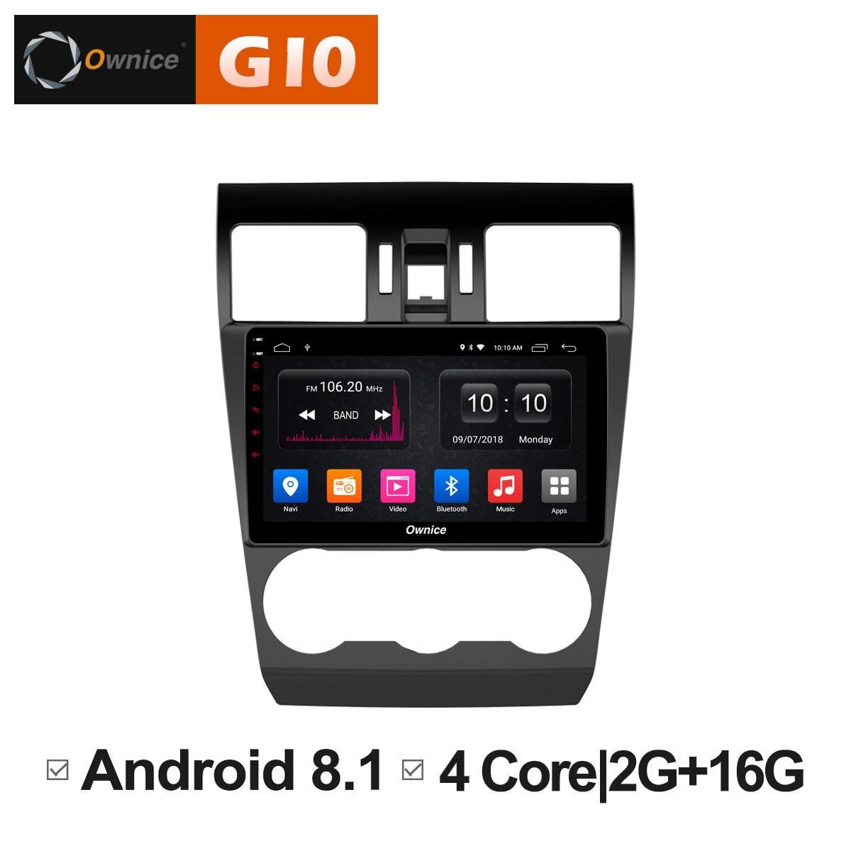 Android 8,1 блок интеллектуальных Системы мультимедийный dvd плеер для Subaru WRX Forester 2014 2015 2016 автомобилей gps навигатор Smart Pad ПК