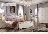 Muebles де Мадера Спальня комплект Гаити! Мебель, король Размеры мягкая кровать, кровать конце стула, ночь, зеркало, комод, кожаный диван