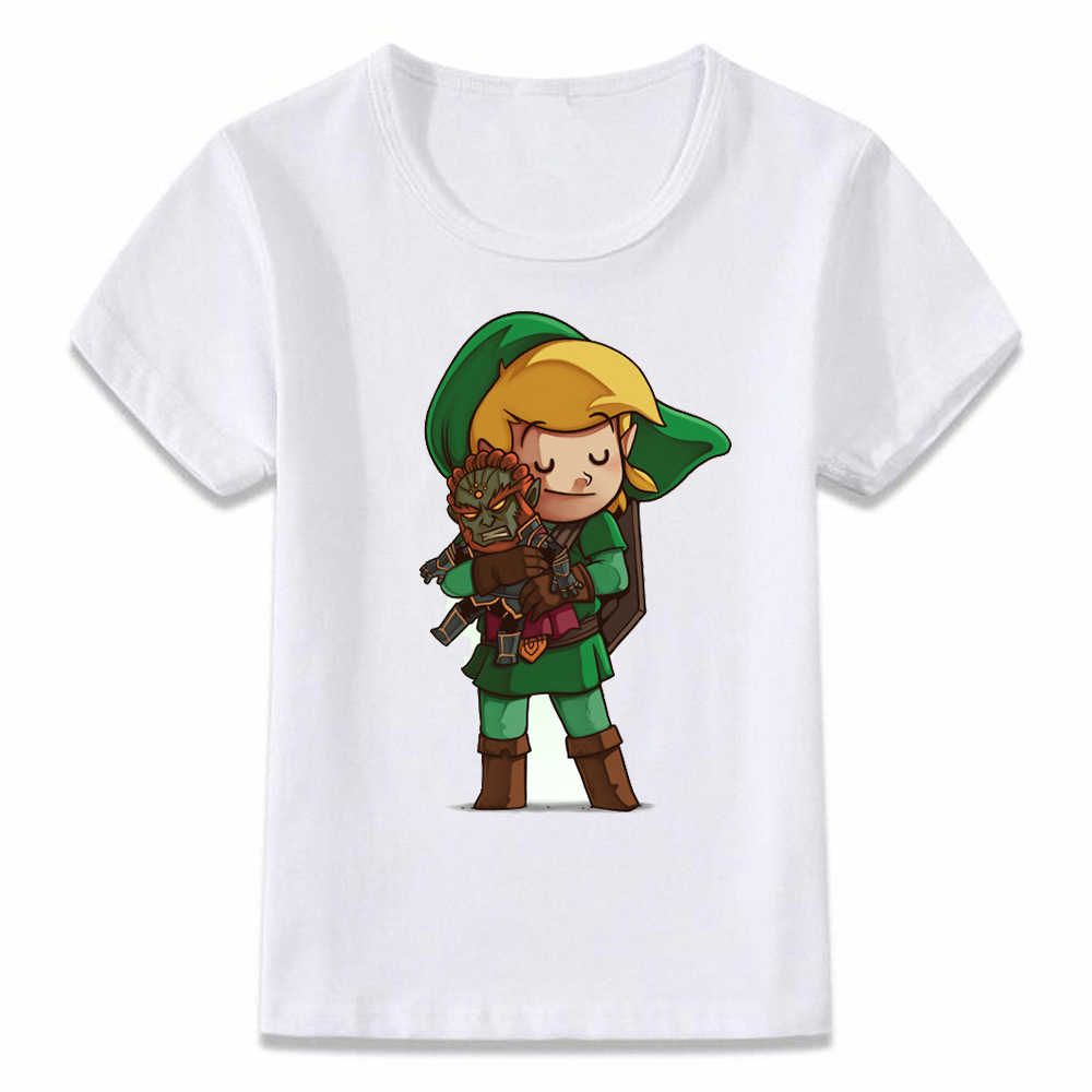 子供服 Tシャツリンク抱擁 Ganondorf 伝説ゼルダの子供の Tシャツの少年少女の幼児シャツ Tシャツ