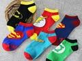 Nueva llegada hero combinar gráficos calcetines para mujer fresco de la historieta encantadora calcetines suaves calcetines del tobillo de marca original de buena calidad