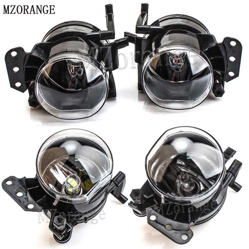 MZORANGE Halogen LED Bulb Fog Light Assembly Car Front Fog Lights Lamps Housing Lens For BMW E60 E90 E63 E46 323i 325i 525i