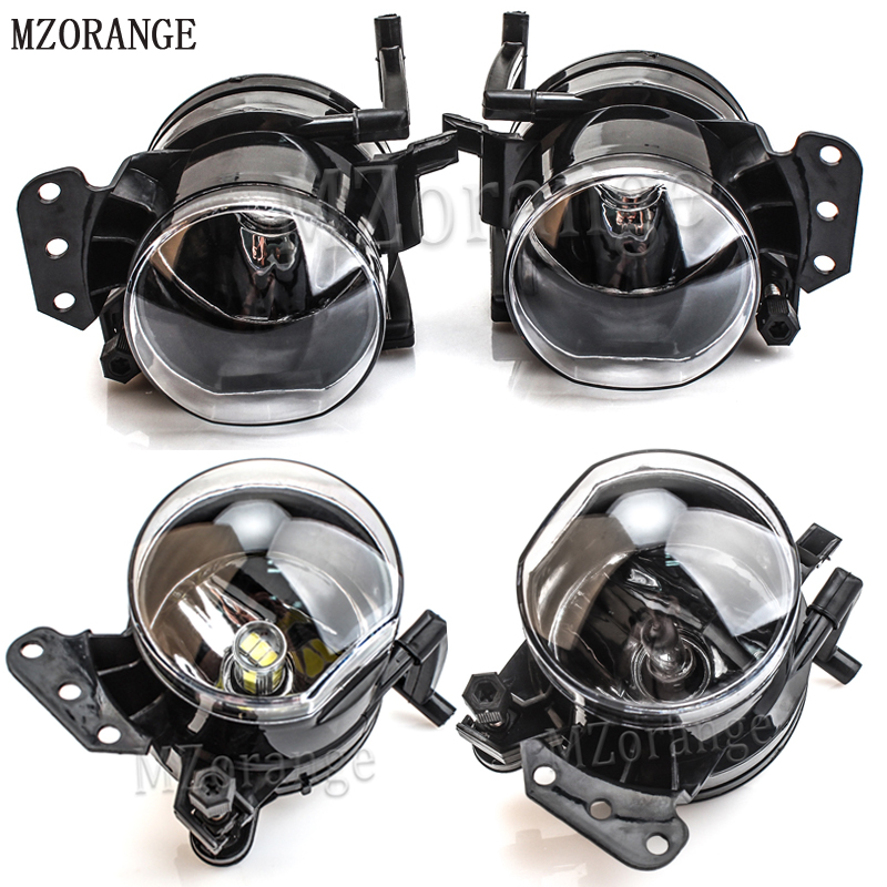 MZORANGE Halogen LED Bulb Fog Light Assembly Car Front Fog Lights Lamps Housing Lens For BMW E60 E90 E63 E46 323i 325i 525i fit for 04 05 06 07 08 bmw e60 5 series fog lights front lamps clear lens pair set usa domestic free shipping