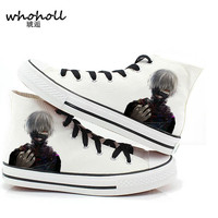 2016 Spring New Arrival Men Women Casual Canvas Shoes Plimsolls Japanese Anime Tokyo Ghoul Print Shoes