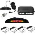 Universal Wired 4 Parking Sensors LED Display Alarm Sound Control Car Kit Auto Reverse Backup Rear View Indicator System Radar