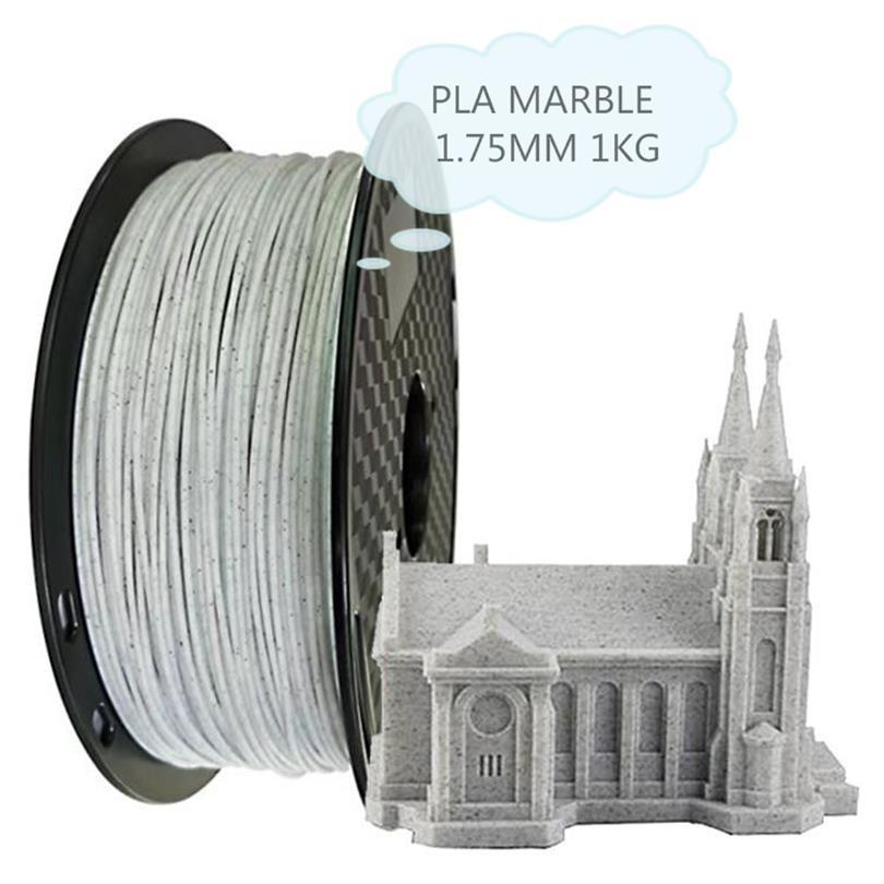 3D プリンタ消耗品 PLA 大理石の石セラミック材料 1.75 ミリメートル 1 キロ印刷材料ライン