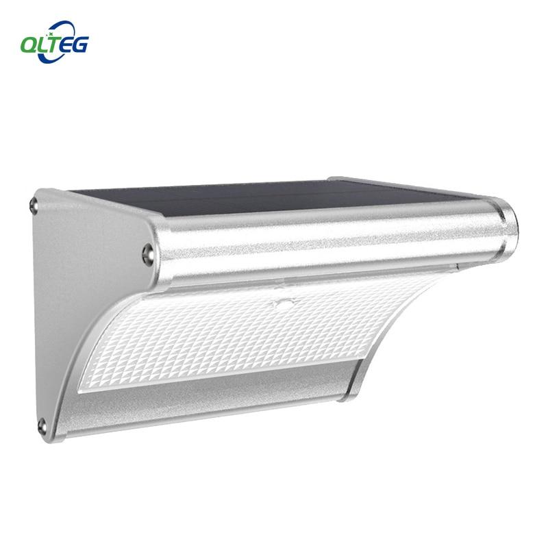 QLTEG Super Bright Solar Motion Sensor LED Light 1000LM Highlight Waterproof Garden Wall Security Lamp By Microwave Radar Motio
