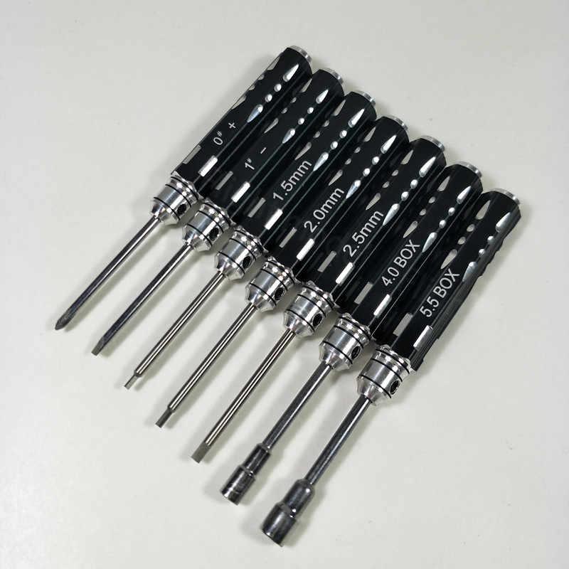 10 pz RC Tool Kit Set Cacciavite Esagonale Socker Elevatore Con Custodia Per Modello RC