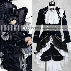 Nova Chegada Black Butler Cosplay Ciel Phantomhive Traje Cosplay Preto
