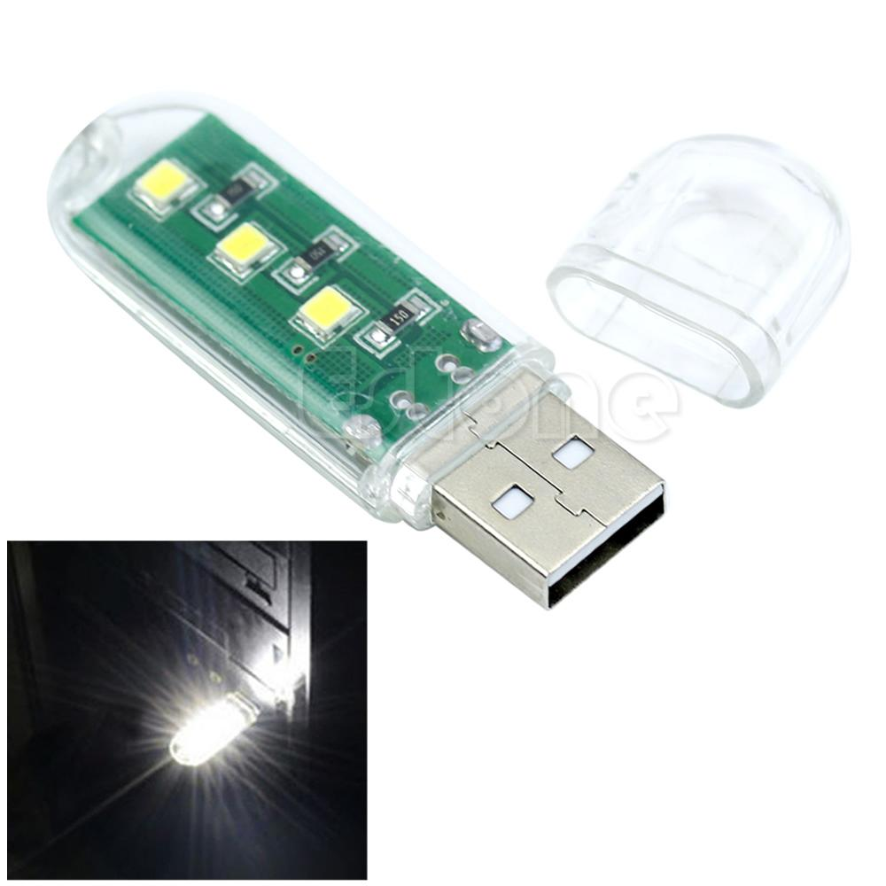 Mini Portable Bright 3 LED Light USB Lamp for PC Laptop Reading Buy 1 Get 1 FREE Clearance Sales USB Gadget image