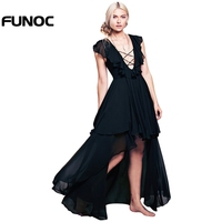 Sexy Long Chiffon Women S Dresses Ruffles Elegant Beautiful Female Evening Dress New Summer