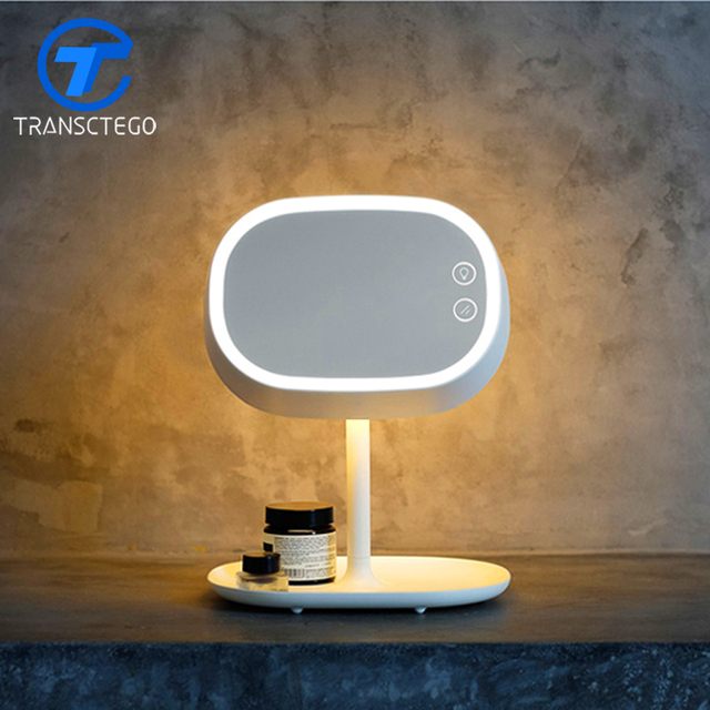 Portable Cosmetic Mirror Lamp Adjule Usb Led Bedside Charging Warm S Gifts