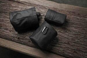 Image 2 - Yeni Mr. Taş el yapımı hakiki deri kamera çantası çanta siyah renk