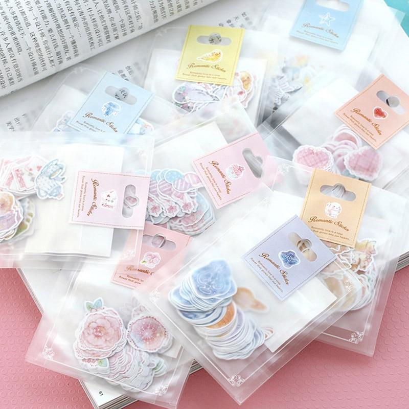 45pcs cute pig girl paper decor diy diary scrapbooking label sticker  FD