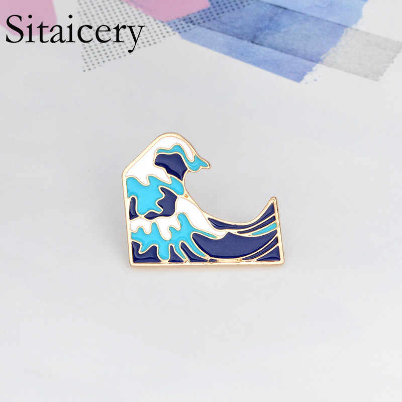 Sitaicery Blue Bros Enamel Pin Gesper Kartun Logam Bros untuk Mantel Tas Pin Laut Perhiasan Hadiah untuk Anak-anak gadis Anak Laki-laki