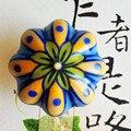 Belas Pintura Pintados À Mão puxadores de cerâmica porcelian rural cerâmica porta do armário de cozinha puxadores de gaveta do vintage lida com botões