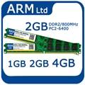 Marca 1 GB 2 GB 4 GB DDR2 800 MHZ 667 MHZ PC2-6400 5300 Memoria sodimm de Memória RAM para o Desktop transporte rápido