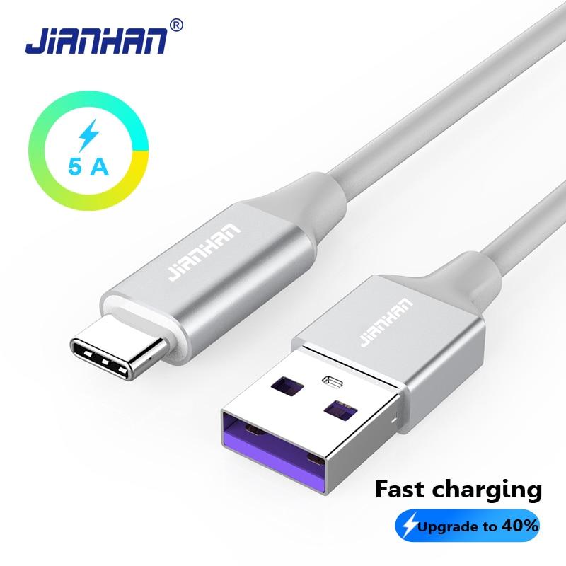Jianhan Usb C Qc 3,0 Schnell Ladegerät Kabel Schnelle Lade Daten Draht 5 V 5a Typ C 3,1 Für Huawei Ehre Xiaomi Samsung S9 1 M/2 M HeißEr Verkauf 50-70% Rabatt