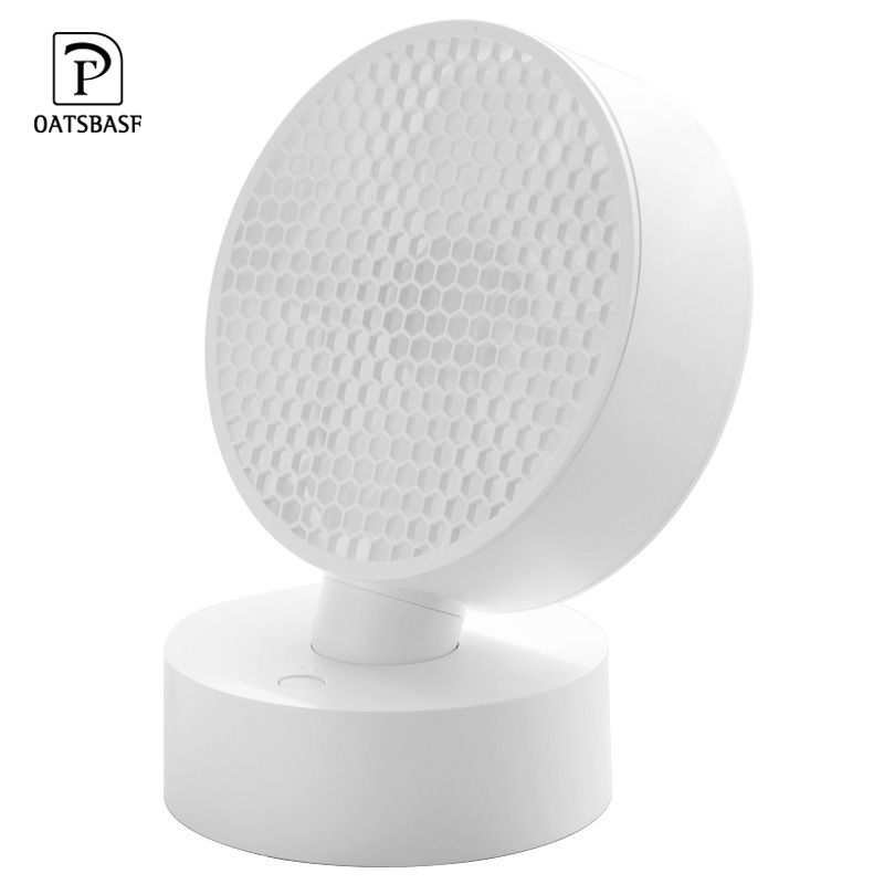 Oatsbasf Mini USB Fan Rechargeable Internal Battery shakeable headHome Student Dormitory Portable Mute Air Cooling Fan in USB Gadgets from Computer Office