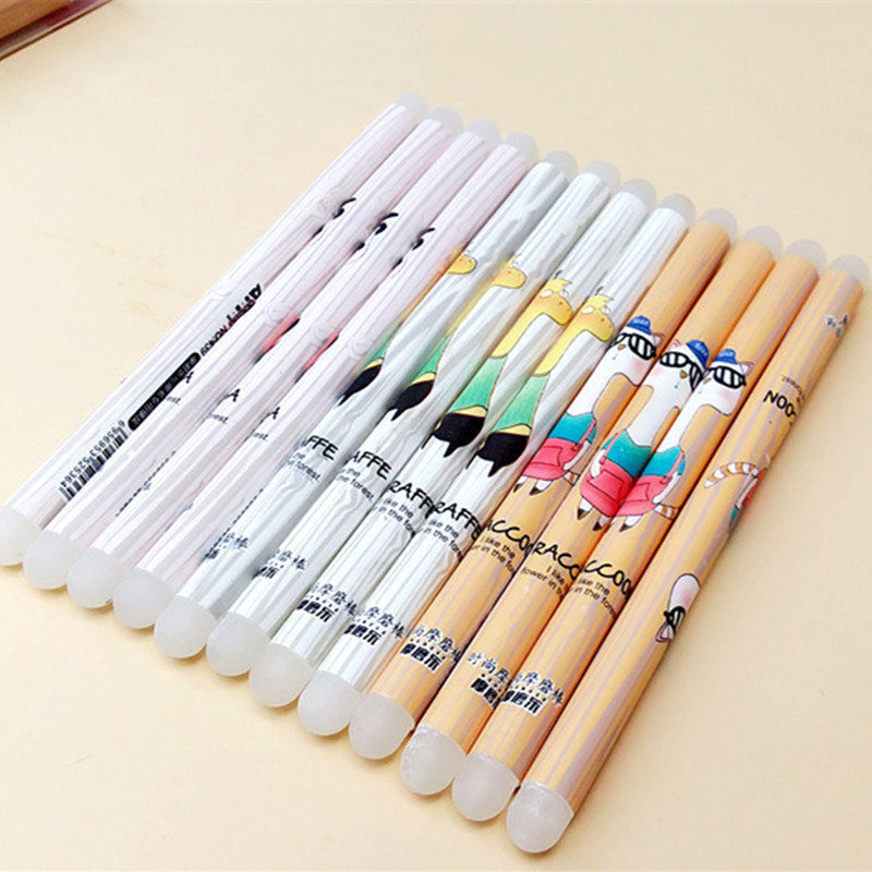 Cute Kawaii Cartoon Silicone Rubber Creative Double Head Eraser For Erasable Pens Korean Stationery Student 2740 20 colors pc korean stationery cute kawaii crayons creative graffiti pens for kids painting drawing supplies student