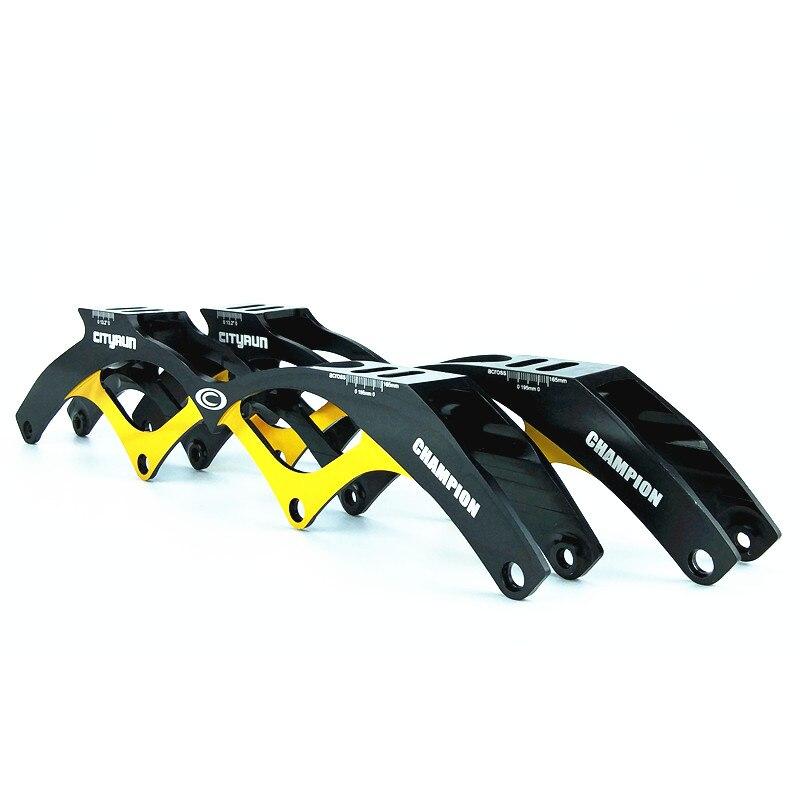 Prix pour 4*110mm roues chassi ville course de patinage de vitesse en ligne cadre champion roller cadre en aluminium vitesse skate tenir cadre