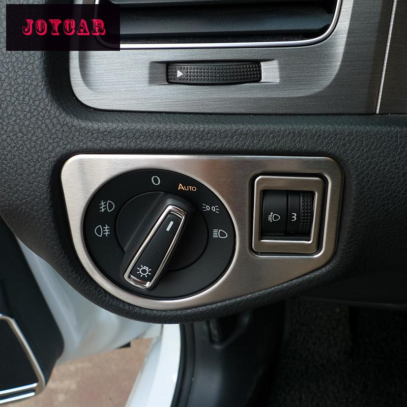 Car Interior Headlight Switch Trim Cover <font><b>Sticker</b></font> For <font><b>VW</b></font> <font><b>GOLF</b></font> <font><b>7</b></font> MK7 VII Auto Accessories image