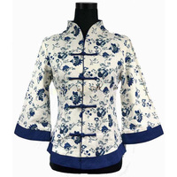 2014New Fashion Chinese Women S Multicolor Cotton Jacket V Neck Coat Outwear Tang Suit S M