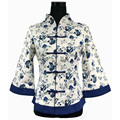 Algodón de Las Mujeres Camisa de Lino Nacional chino Tradicional Hecho A Mano Flor Blusa Tops más el Tamaño Sml XL XXL XXXL 4XL 5XL WS061