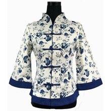 Chinese National Women Cotton Linen Shirt Traditional Handmade Blouse Flower Tops Plus Size S M L XL XXL XXXL 4XL 5XL WS061