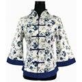 Mulheres Camisa De Linho De Algodão Nacional chinesa Tradicional Feito À Mão Flor Blusa Tops plus Size S M L XL XXL XXXL 4XL 5XL WS061