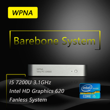 WPNA Barebone UX850 intel core i5 7200U HD Graphics 620 WIFI mini pc windows All In One Computer Office Desktop