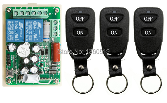 New AC220V 2CH 10A RF Wireless Remote Control Switch System Transmitter with Two-button Receiver Smart Home Switch