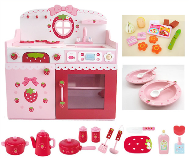 New Arrival Baby Toys Colourful Deluxe Pretend Play Kitchen Set Children Play House Wooden Toys Birthday gift Toys cutebee new house wooden pretend play