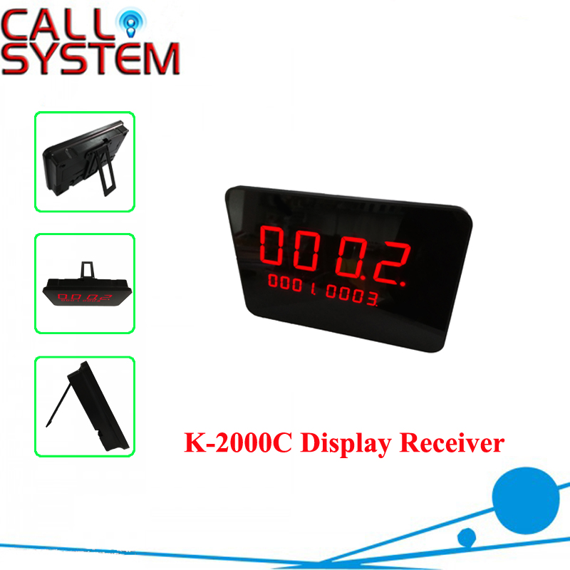 Wireless Call System Receiver Desktop style K-2000C show 3 groups number one time wireless pager system 433 92mhz wireless restaurant table buzzer with monitor and watch receiver 3 display 42 call button