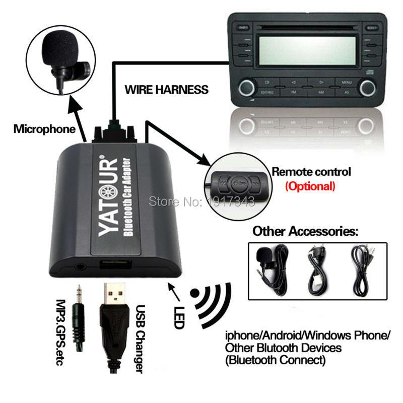 Yatour Adaptador de Coche Bluetooth Conector de CD de Música Digital - Electrónica del Automóvil - foto 2
