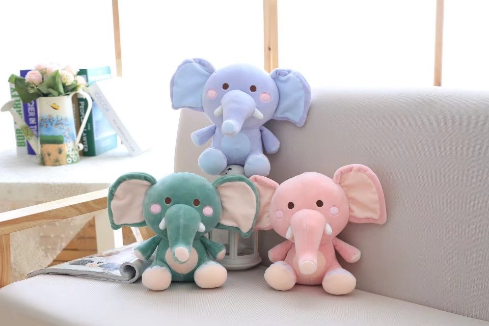 cute Elephant doll soft toy for children 30 cm Stuffed Plush Toys Kawaii Soft Dolls for Babies Simulation Animal Dolls for girls big toy owl plush doll children s toys simulation stuffed animal gift 28cm