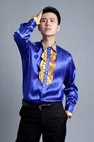 S 3XLfree Shipping Camisa Masculina2015New Mens Dress Shirt Tie Groom Wedding Show Slim Fit Shirts Long