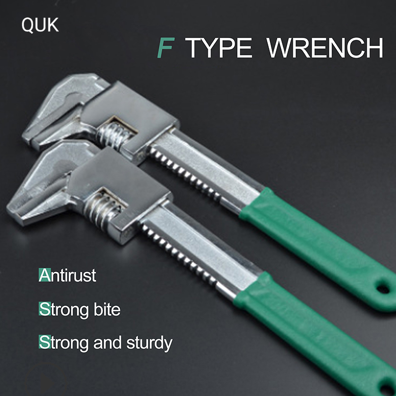 QUK Torque Wrench Ratchet Oil Filter Wrench Spanner Set Universal Adjustable Pipe Key Multi-function Home Repair Hand Tools