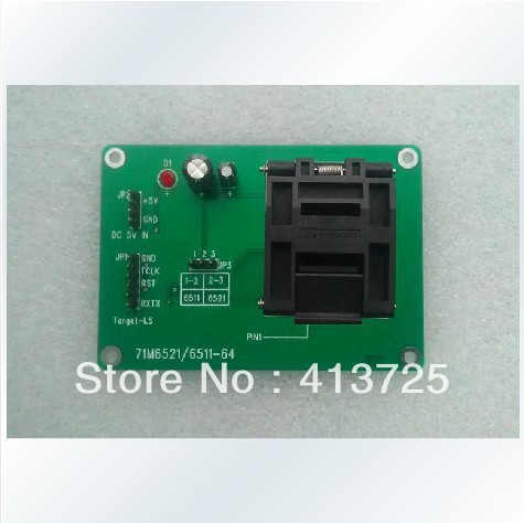 MAXIM 71M6521/6511-64 is offline on burning test TFP2 programmer private