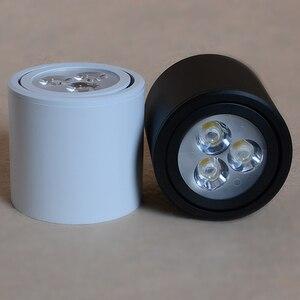 Image 5 - 3W5W7W9W12W Dimbare Led Downlighters Zwart Oppervlak Gemonteerde Led Plafond Lampen Spot Light Keuken Rotatie Down Light AC85 265V