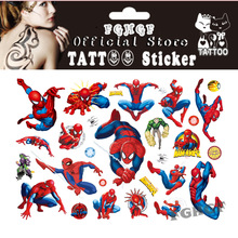 FGHGF 10 Teile / los spinne menschen Kind Temporäre Körperkunst Flash Tattoo Aufkleber 17 * 10 cm Wasserdichte schmerzlose tattoo