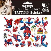 FGHGF 10PCS / lot паяк детето временно боди арт флаш татуировка стикер 17 * 10 см водоустойчив безболезнена татуировка