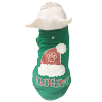 Fashion Style Cotton Pet Dog Clothes Christmas Hat Pattern Pet Clothes For Small And Medium Puppy