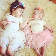 2017 summer newborn pettiskirt baby skirt baby tutu infant girl tutu lace skirt with colorful ball toddler christmas gift saias