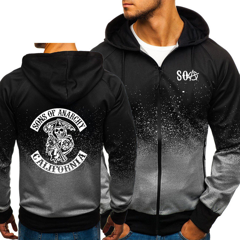 Officially Licensed Sons of Anarchy SOA 1967 Skull Epic Hoodie S-XXL Sizes