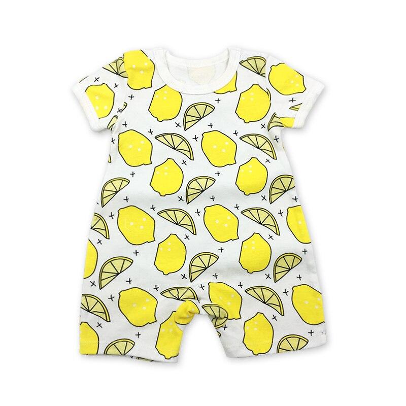 2018 Short Sleeve Baby Girl Boys Newborn Romper Infant Jumpsuit Summer Cotton  lemon Rompers