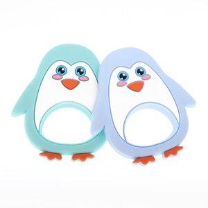 Image 3 - Whosale סיליקון פינגווין תינוק נשכן קיפוד 10pcs Bpa משלוח תינוק לעיסה בקיעת שיניים שרשרת תליון אביזרי אחיות מתנות